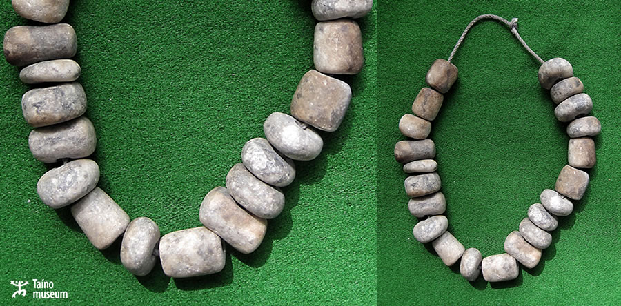 Necklace of stone beads